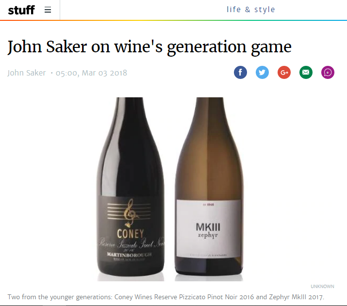 John Saker on wine's generation game Zephyr Wine