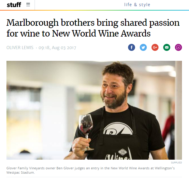 Marlborough brothers bring shared passion for wine to New World Wine Awards Zephyr Wine